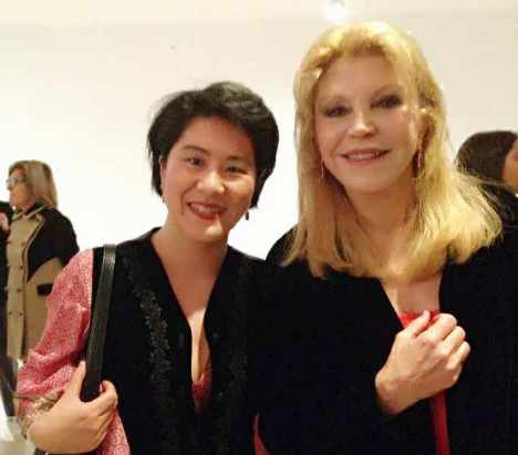With Carmen Thyssen-Bornemisza